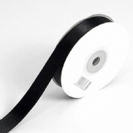 Black Double Faced Satin Ribbon. 3mm x 50meters Per Reel